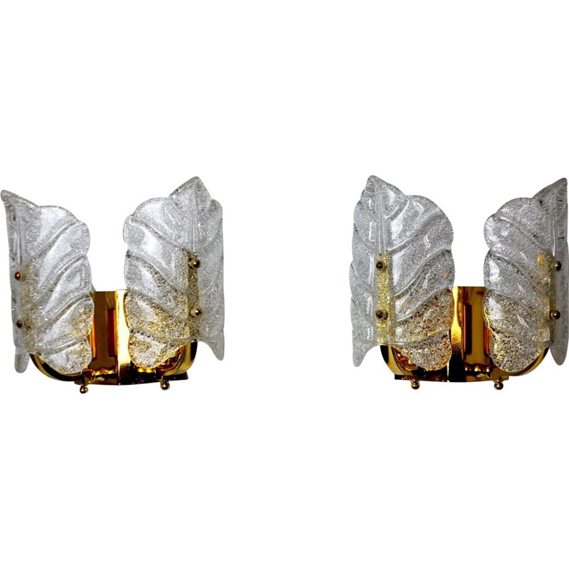 Pair of vintage sconces by Carl Fagerlund Austria 1970s