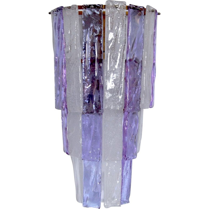 Vintage wall lamp two-coloured by Albano Poli Murano Italy 1970s