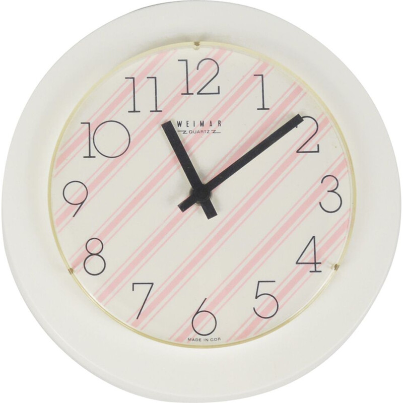 Vintage wall clock Opart Weimar Germany 1970s