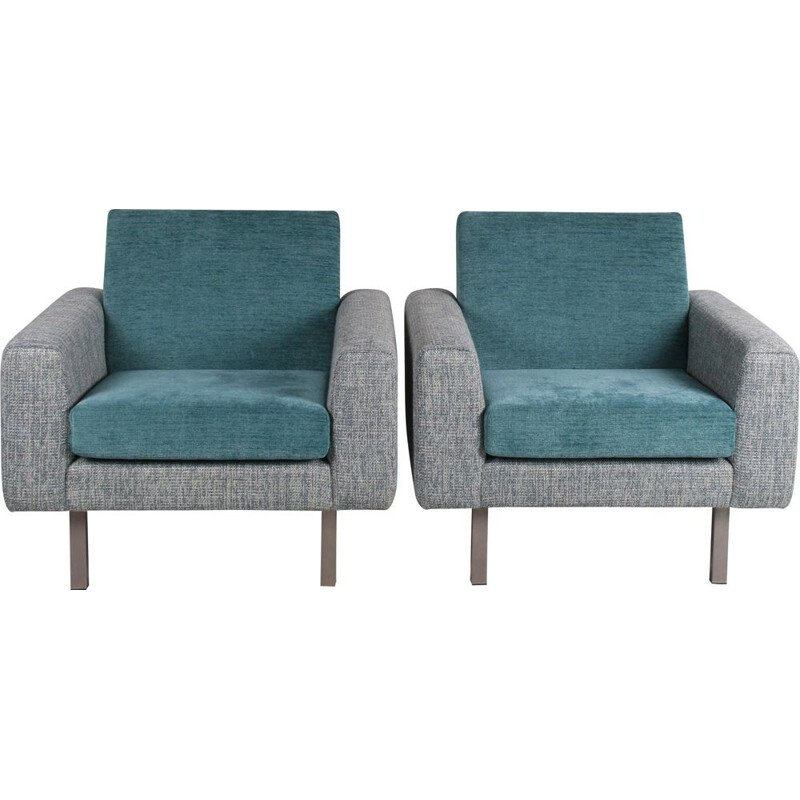 Pair of vintage Artifort armchairs by Theo Ruth 1950s