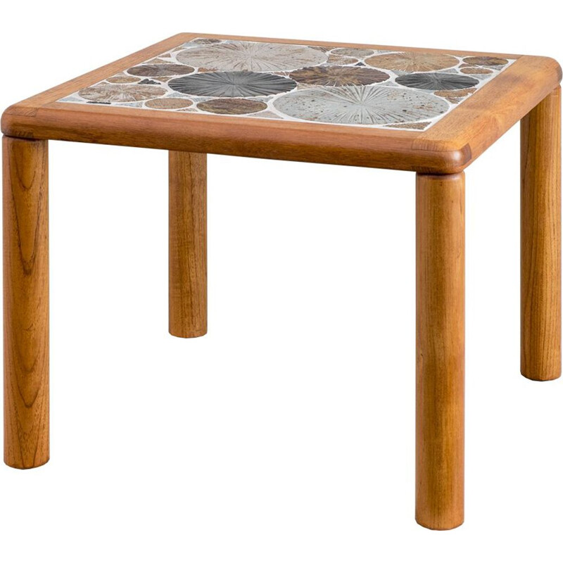 Vintage ceramic coffee table by Tue Poulsen for Haslev Møbelsnedkeri 1960s