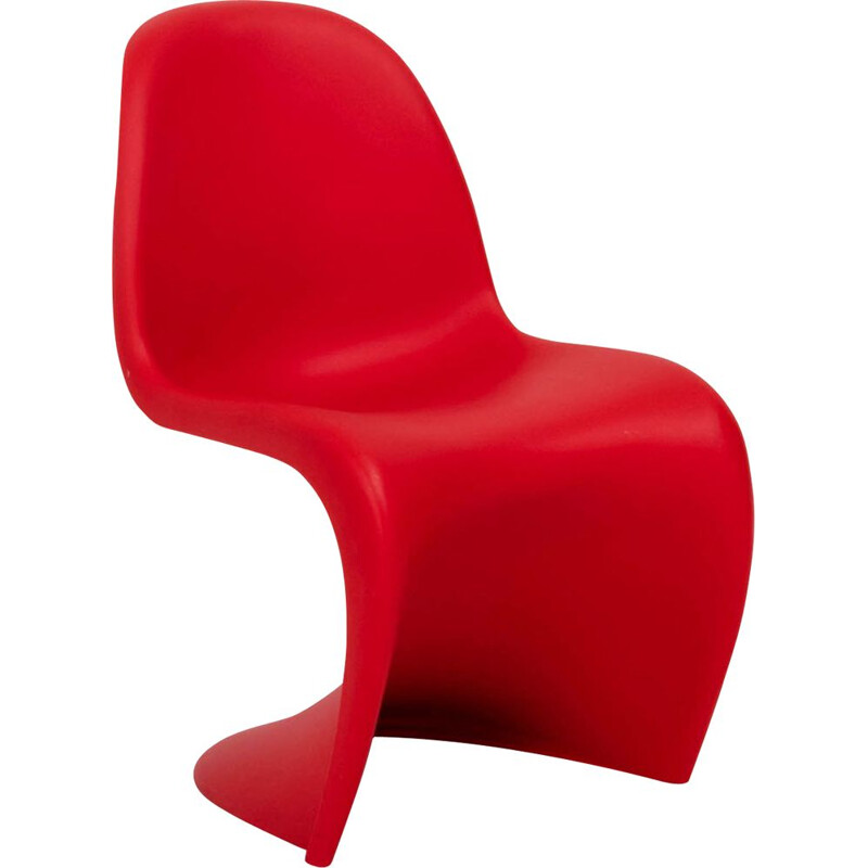 Vintage red chair by Verner Panton for Vitra