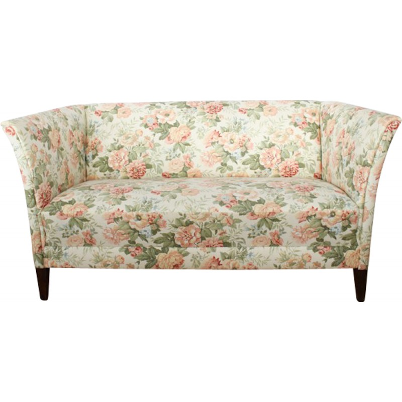 2 Seater Sofa With Flower Pattern 1970s