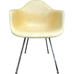 DAX Lemon Yellow armchair, Charles & Ray EAMES - 1950s