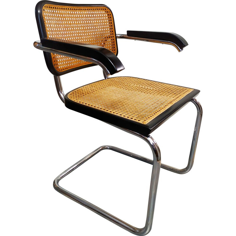 Vintage Cesca chair by Marcel Breuer Italy 1962s