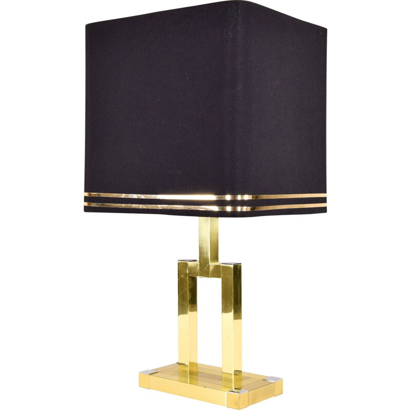 Vintage brass table lamp by Lumica 1970s