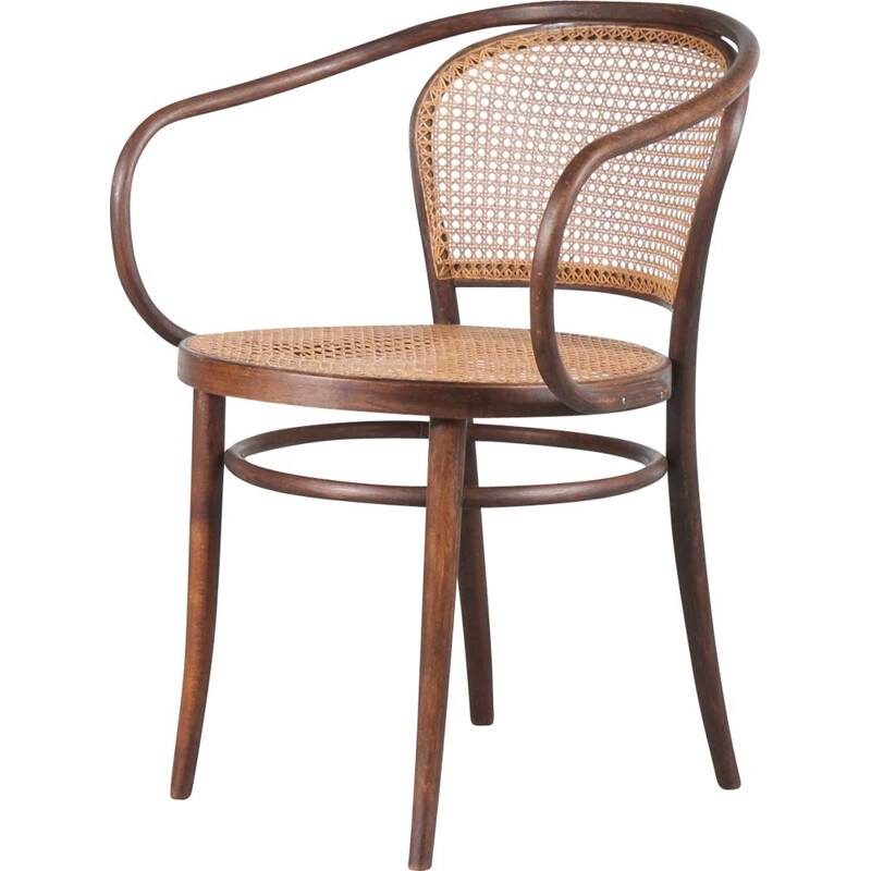 Vintage chair by Le Corbusier for Thonet France 1940s