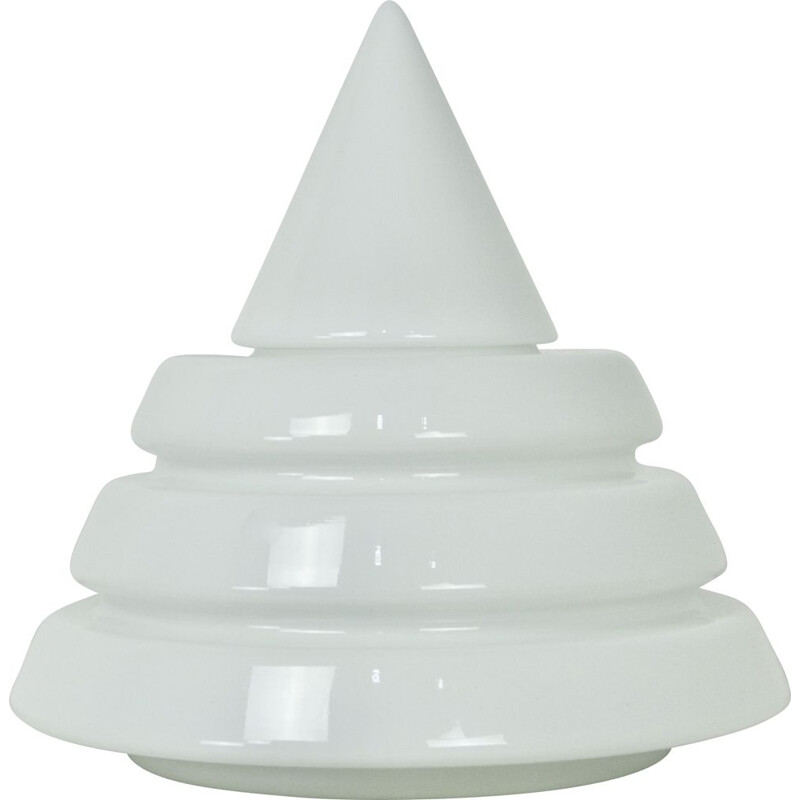 Vintage white lamp in Opalin glass