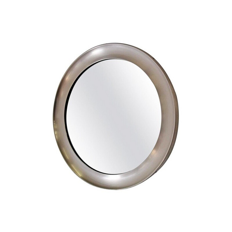 "Artemide ""Narciso"" mirror in brushed steel, Sergio MAZZA - 1950s"
