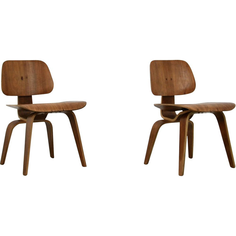 Vintage DCW plywood chair by Charles Eames for Evans 1950s