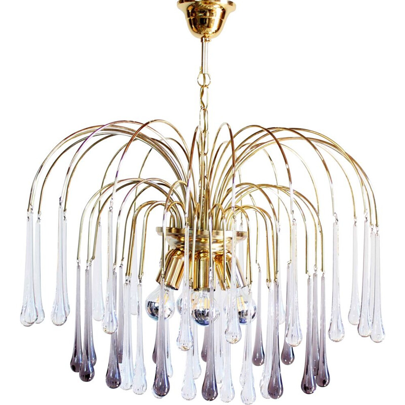 Vintage chandelier by Paolo Venini for Eurolux 1960s