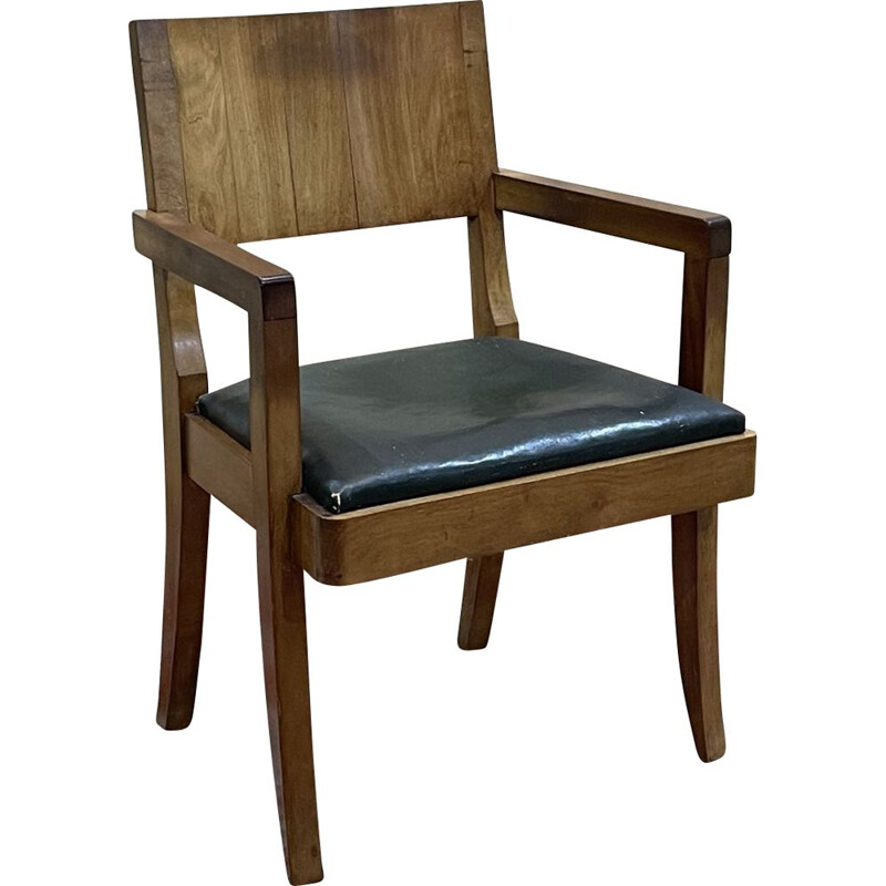 Vintage mahogany office chair 1930s