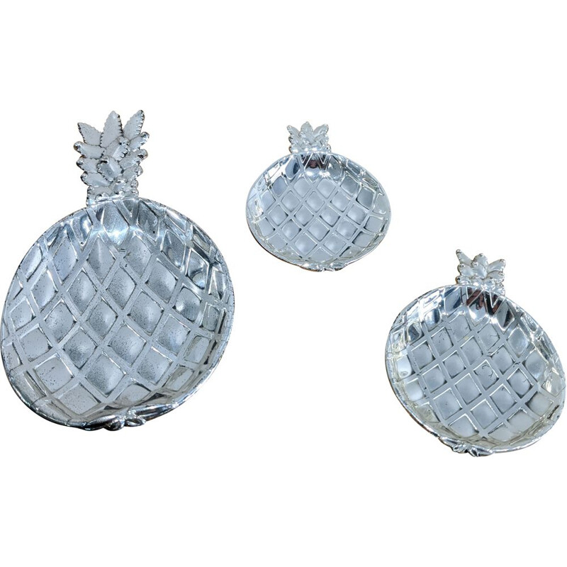 Vintage silver plated pineapple cups 1970s