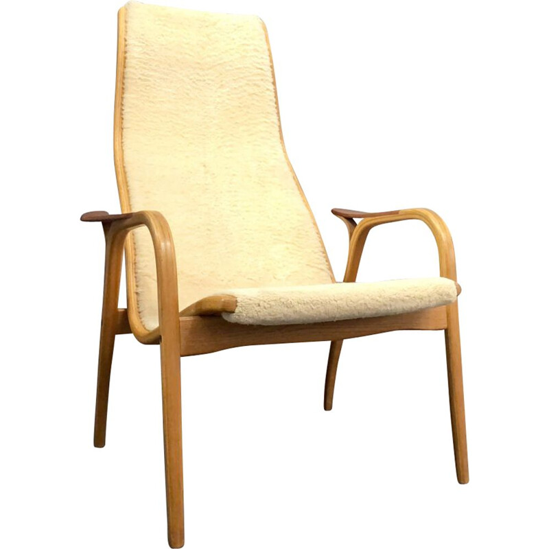 Vintage Lamino armchair and chaise longue by Yngve Ekström for Swedese Sweden 1960s