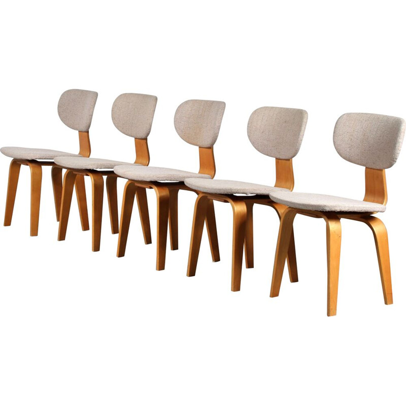 Set of 5 vintage SB03 chairs by Cees Braakman for Pastoe, Netherlands 1950