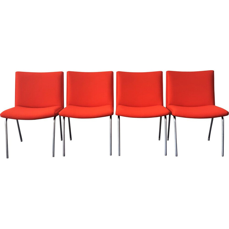 Set of 4 vintage airport chairs AP 40 by Hans Wegner for AP Stolen Denmark 1960s