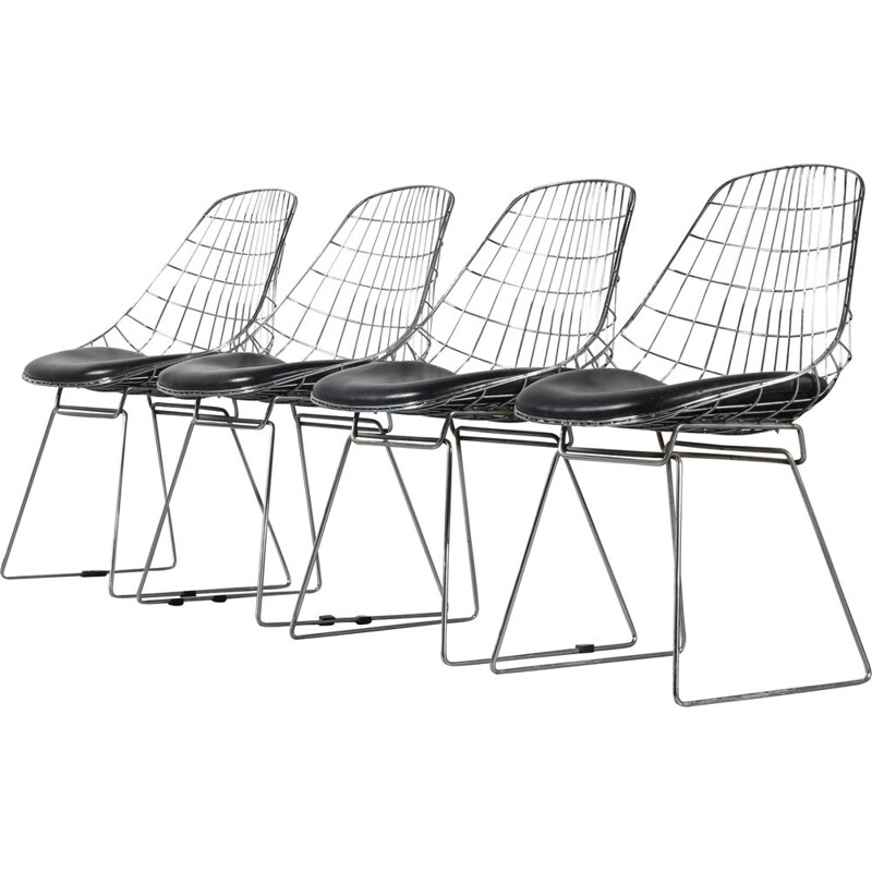 Set of 4 vintage chairs SM05 by Cees Braakman for Pastoe Netherlands 1950s
