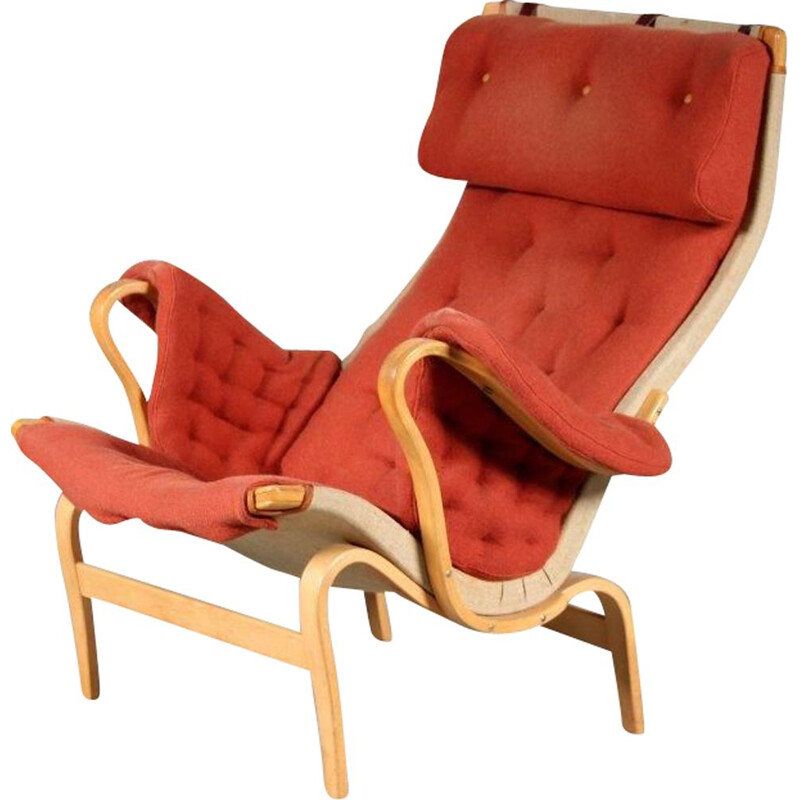 Vintage Pernilla chair by Bruno Mathsson for Dux Sweden 1960s