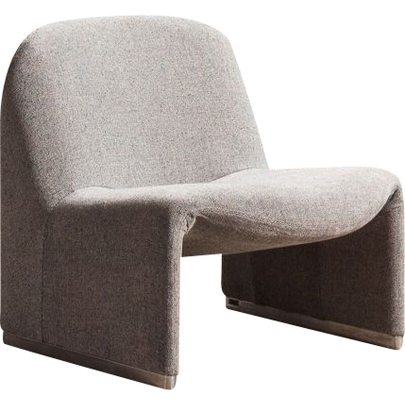 Vintage Alky armchair redesigned with grey fabric by Giancarlo Piretti for Artifort 1970s