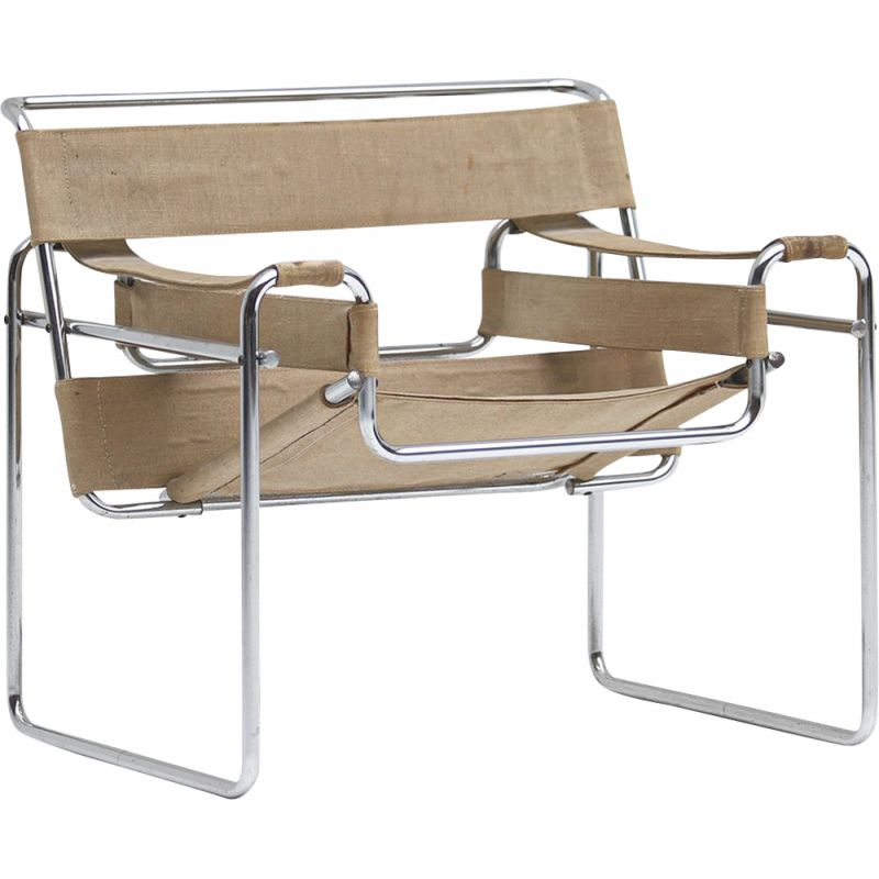 Pair of vintage chairs by Wassily de Marcel Breuer for Gavina 1968