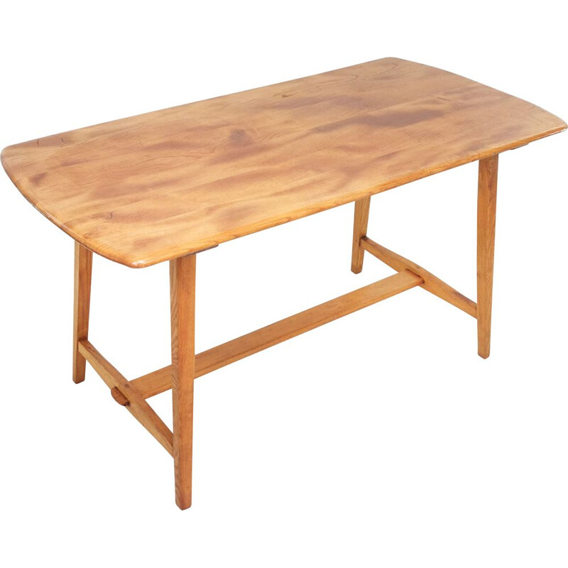 Vintage Ercol Windsor CC41 beech and elm table by Lucian Ercolani 1960