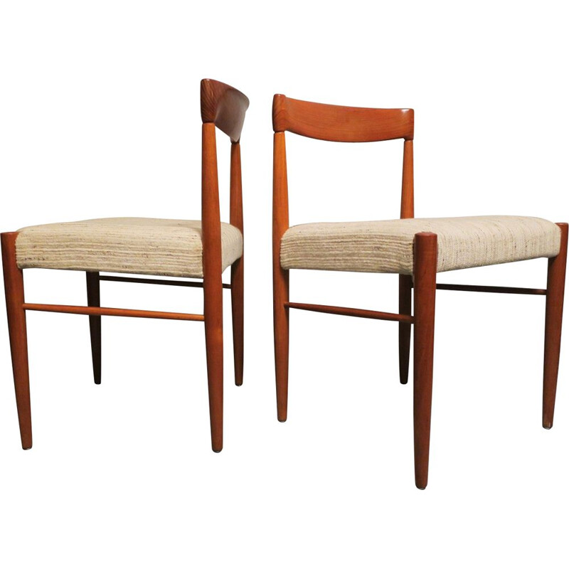 Pair of vintage side chairs by H. W. Klein Denmark 1960s