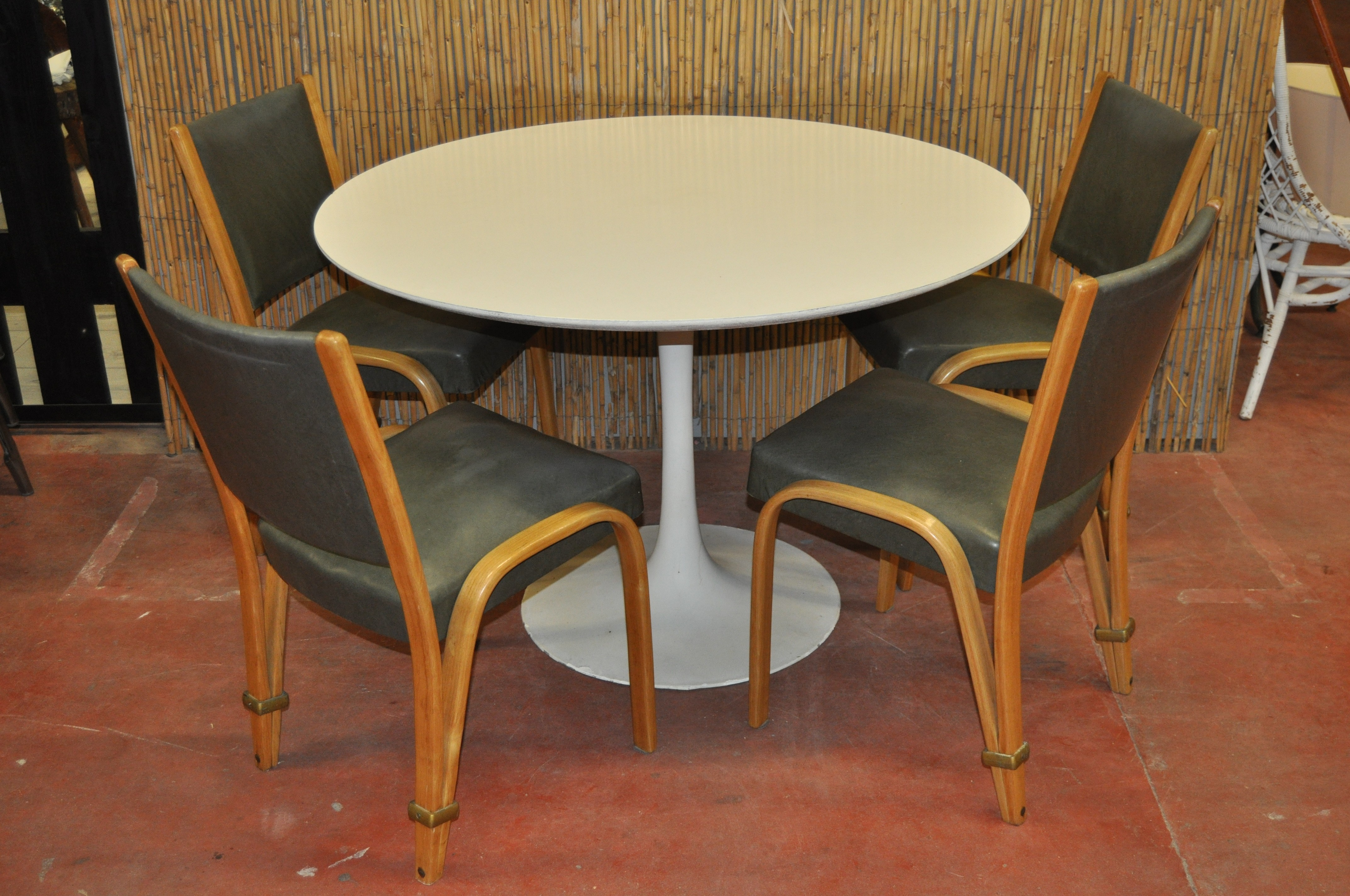 previous next arkana round dining table in aluminum maurice burke   1970s      rh   design mkt com