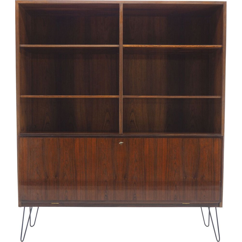 Vintage recycled bookcase by Omann Jun Palisander Denmark 1960s