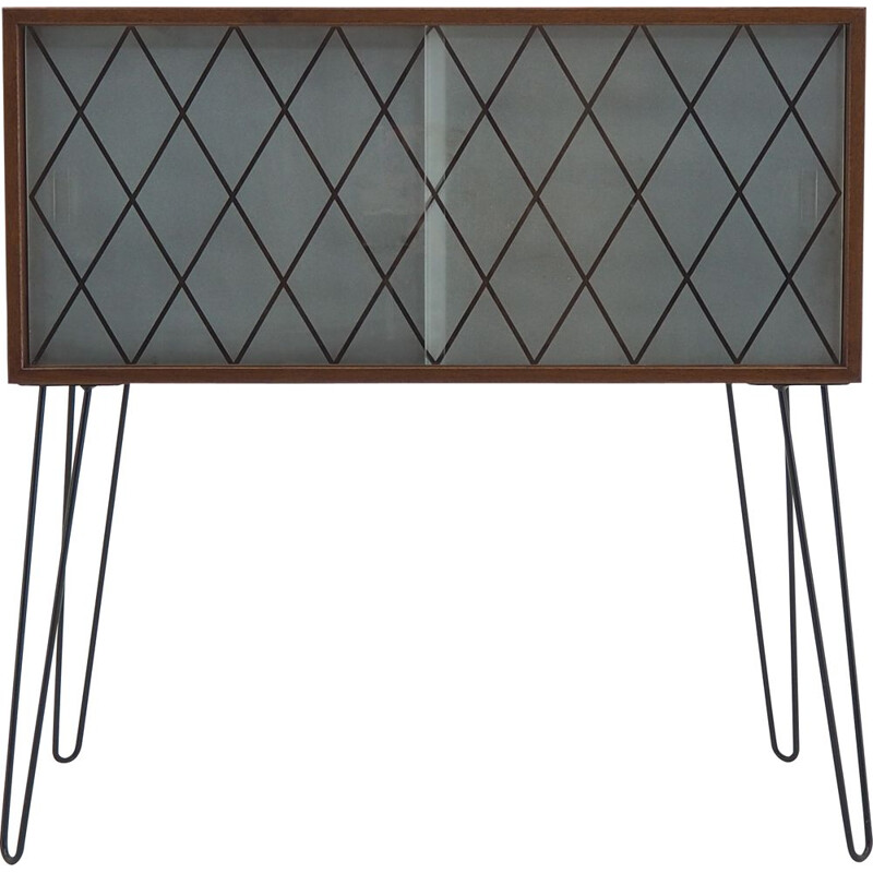 Vintage teak and recycled glass wardrobe Denmark 1960s