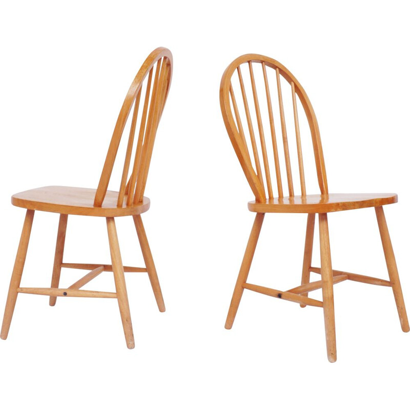 20 vintage solid pine chairs by Lucian Ercolani for Ercol United Kingdom 1960s