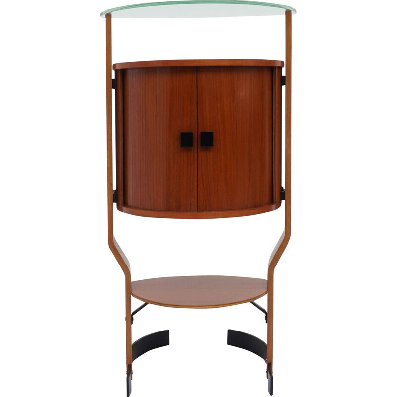 Vintage bar cabinet on foot Italy 1960s