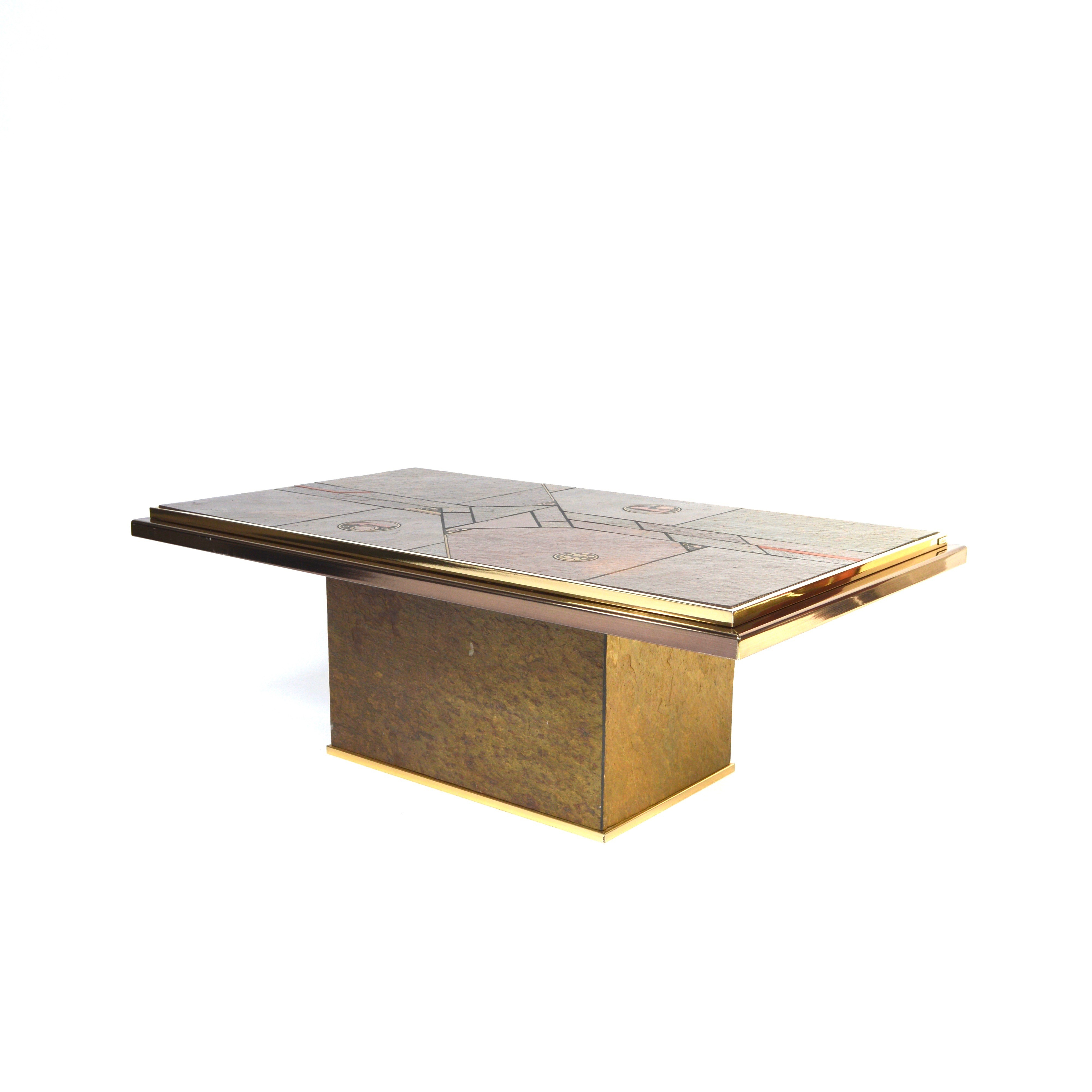 Le Corbusier Coffee Table Images Le Corbusier Coffee  : dutch fedam coffee table in granite and brass paul kingma 1970s from zenlaser.co size 4000 x 4000 jpeg 739kB