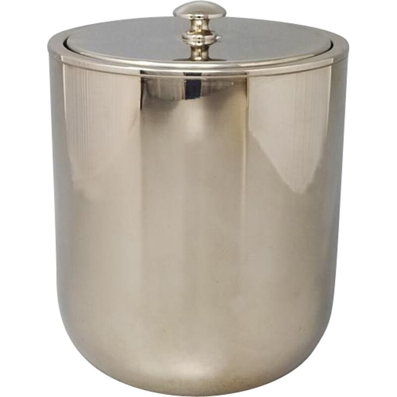 Vintage ice bucket by Aldo Tura for Macabo Italy 1960s