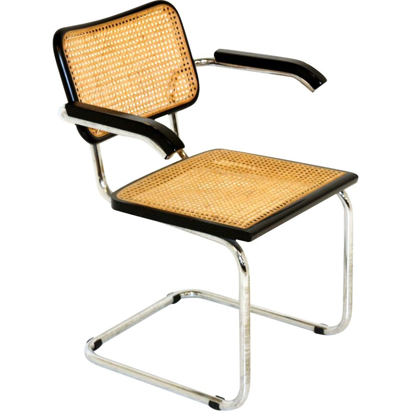 Vintage B64 armchair by Marcel Breuer Italy 1990s