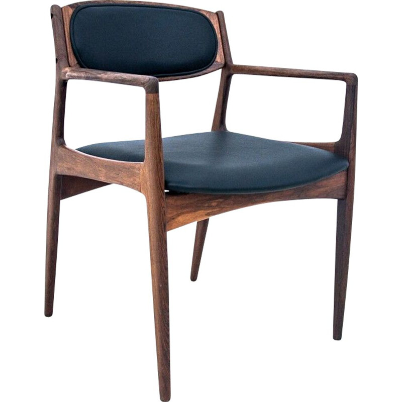 Vintage rosewood office chair Denmark 1960s