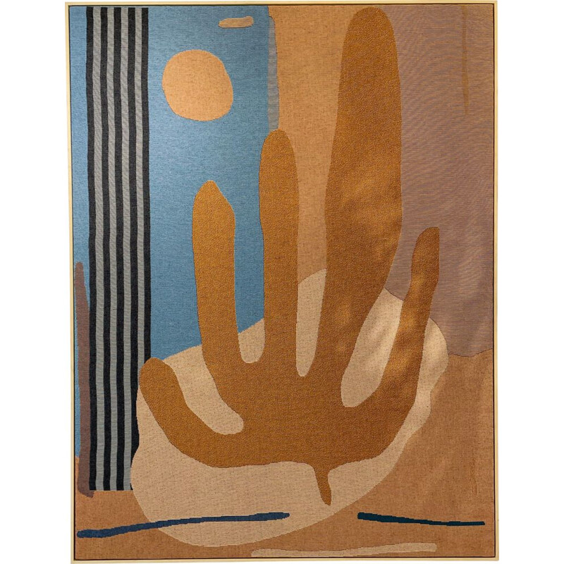 Vintage abstract and contemporary Cactus tapestry