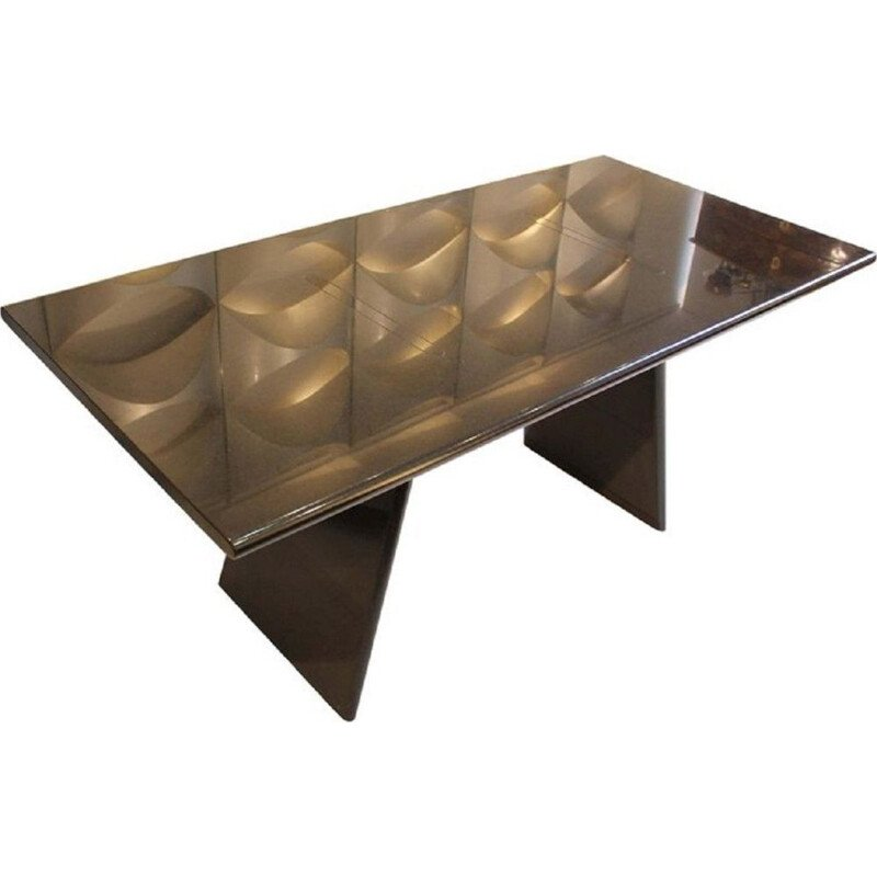 Vintage Asolo black table in granit by Angelo Mangiarotti Italy 1981s