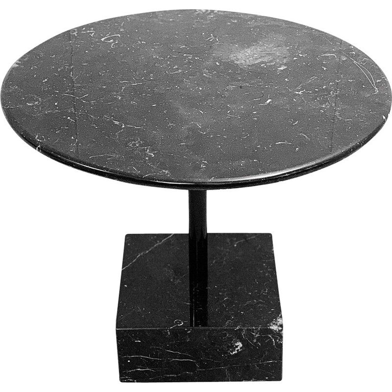 Vintage Primavera side table in black marble by Ettore Sottsass for Ultima Edizione