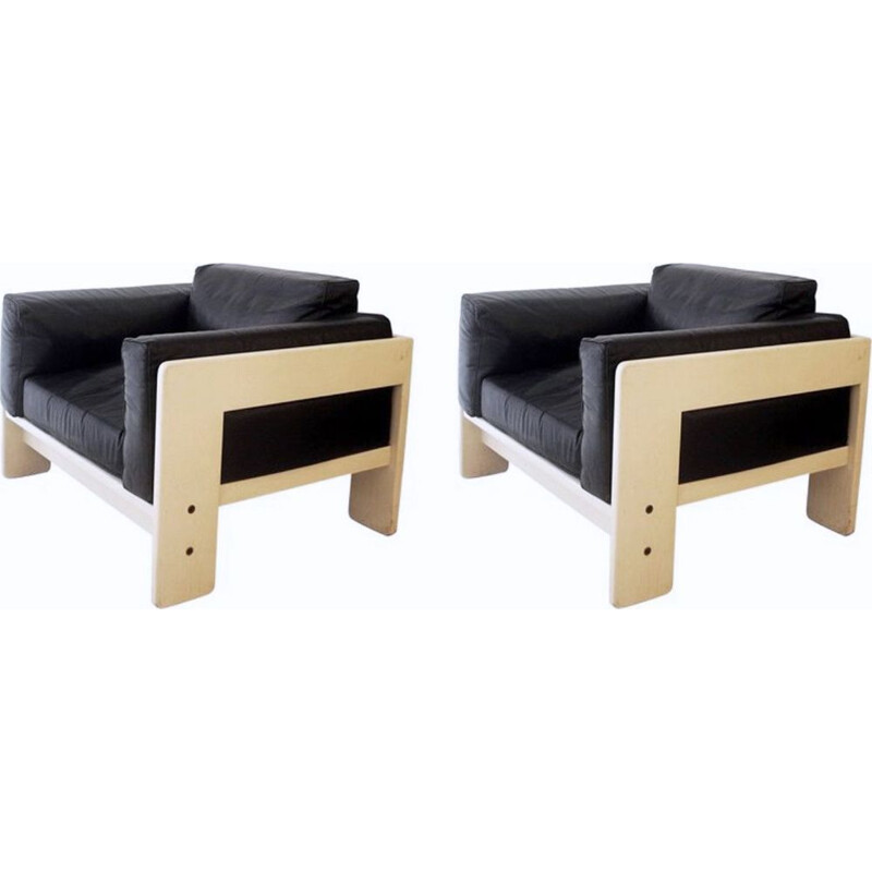 Pair of vintage Bastiano armchairs by Tobia Scarpa for Gavina 1960s
