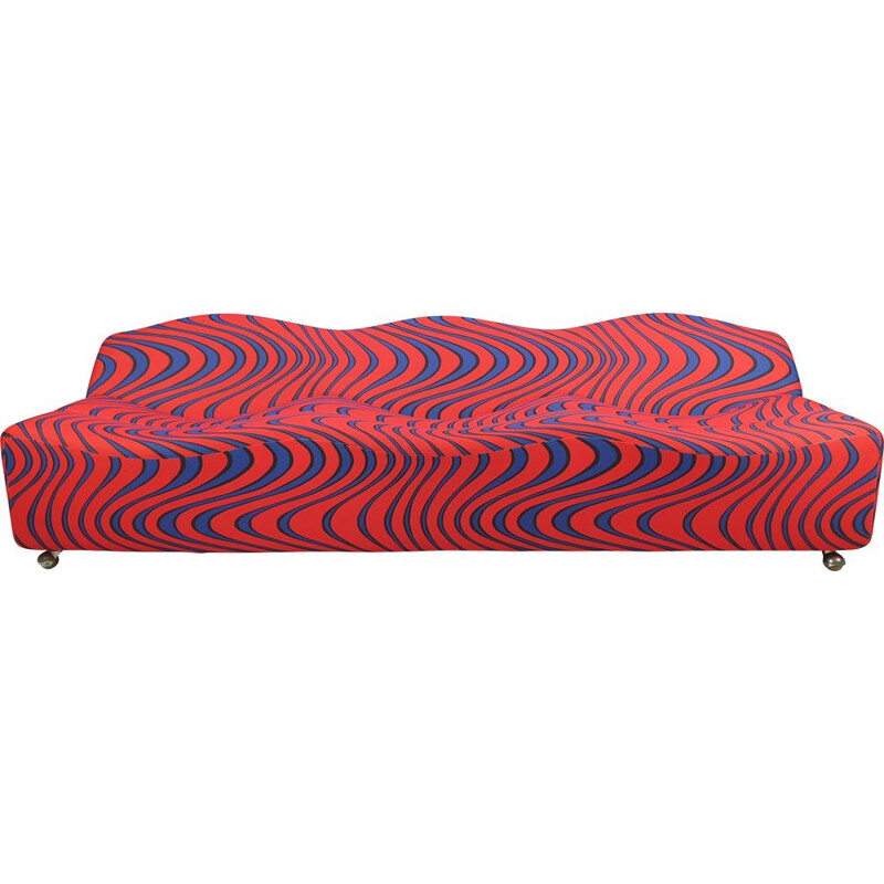 Vintage 3-seater sofa ABCD by Pierre Paulin for Artifort 1968s