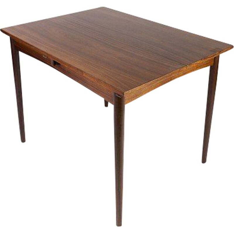 Vintage table with rosewood extension by Arne Vodder 1960s