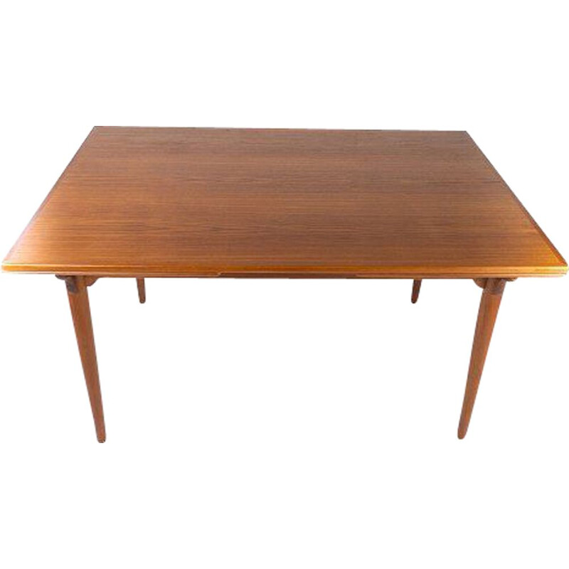 Vintage teak table with extensions Denmark 1960s