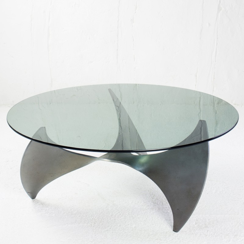 Ronald Schmitt Quot Propeller Quot Coffee Table In Glass And Steel