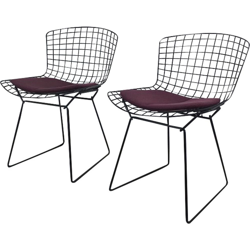 Pair of vintage chairs by Harry Bertoia Knoll 1970s