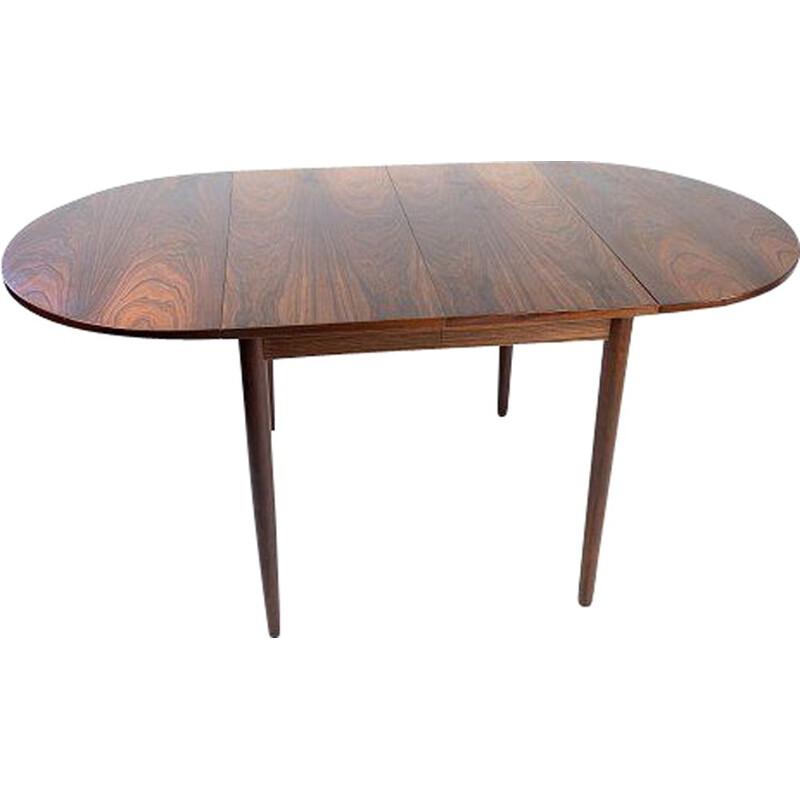 Vintage dining table with extensions in rosewood by Arne Vodder 1960s