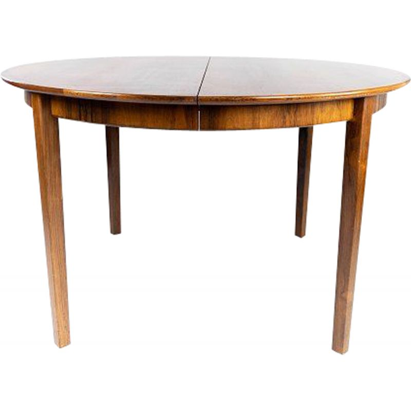 Vintage dining table in rosewood with three extension plates, Danish 1960s