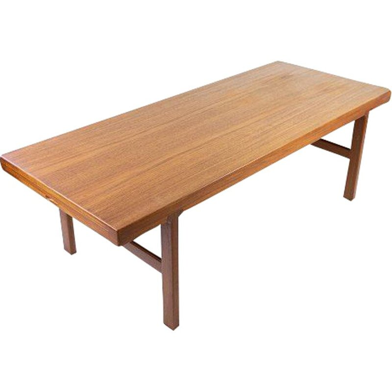 Vintage coffee table in teak with extension plate, Denmark 1960s