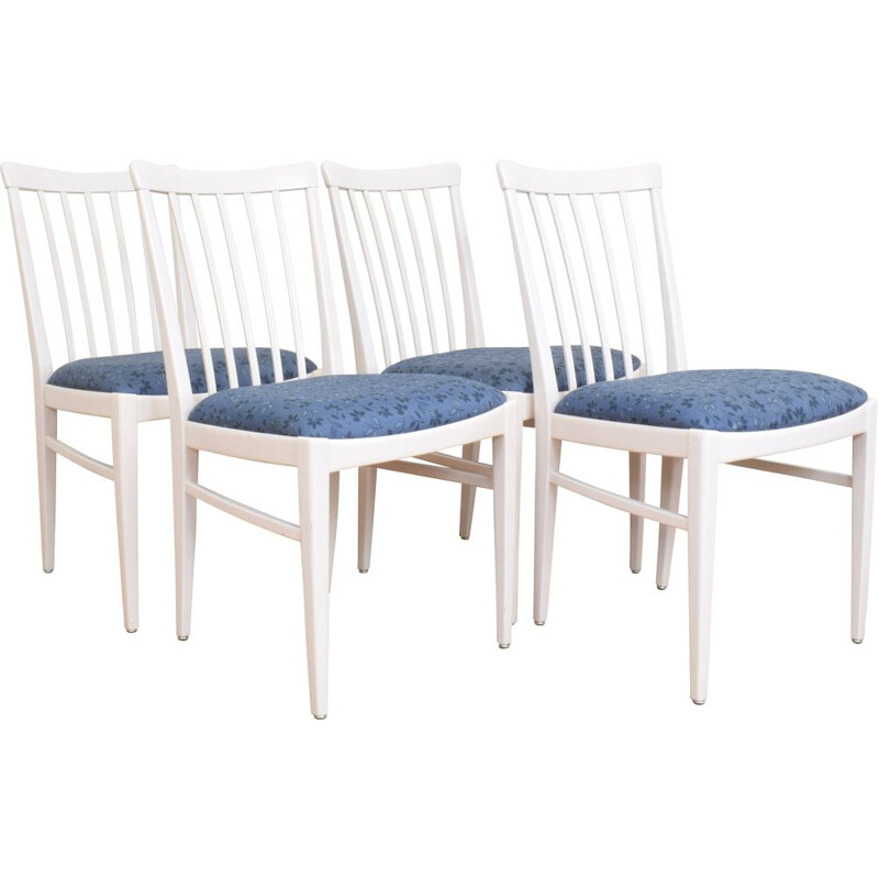 Set of 4 chairs by Carl Malmsten for Bodafors Sweden 1960s