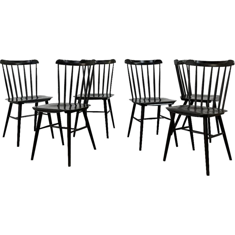 Set of 6 vintage chairs Ironica 1970s