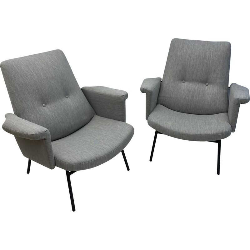 Pair of vintage Guariche SK 660 armchairs by Steiner